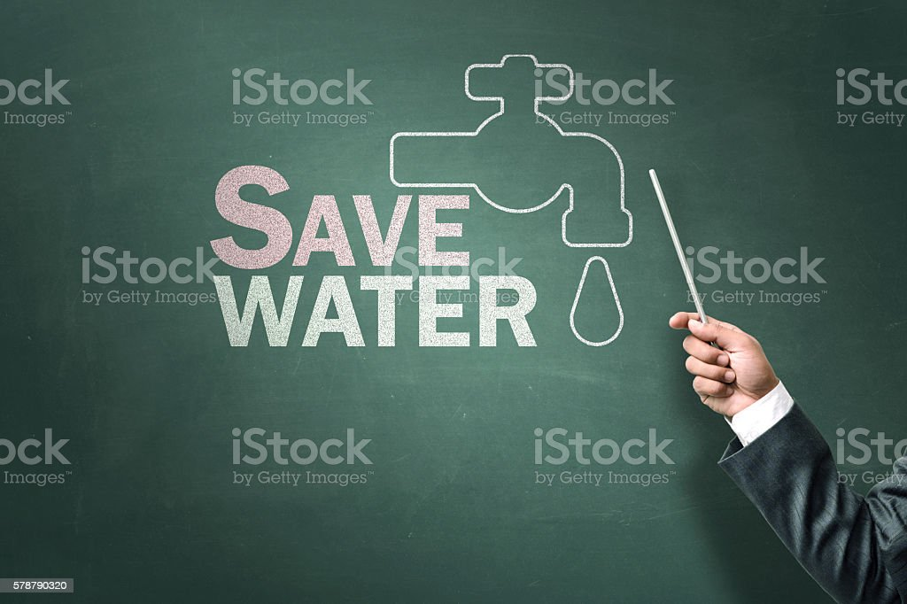 Save water stock photo