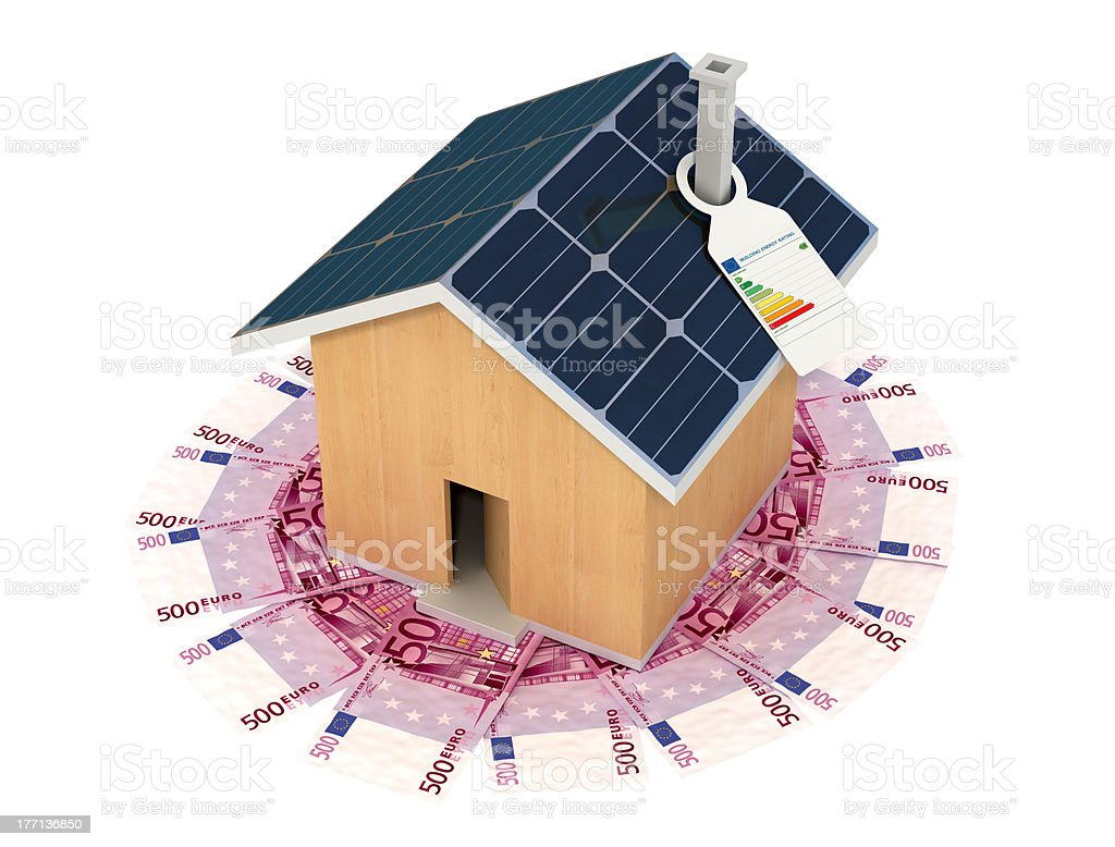 save with an ecological house stock photo