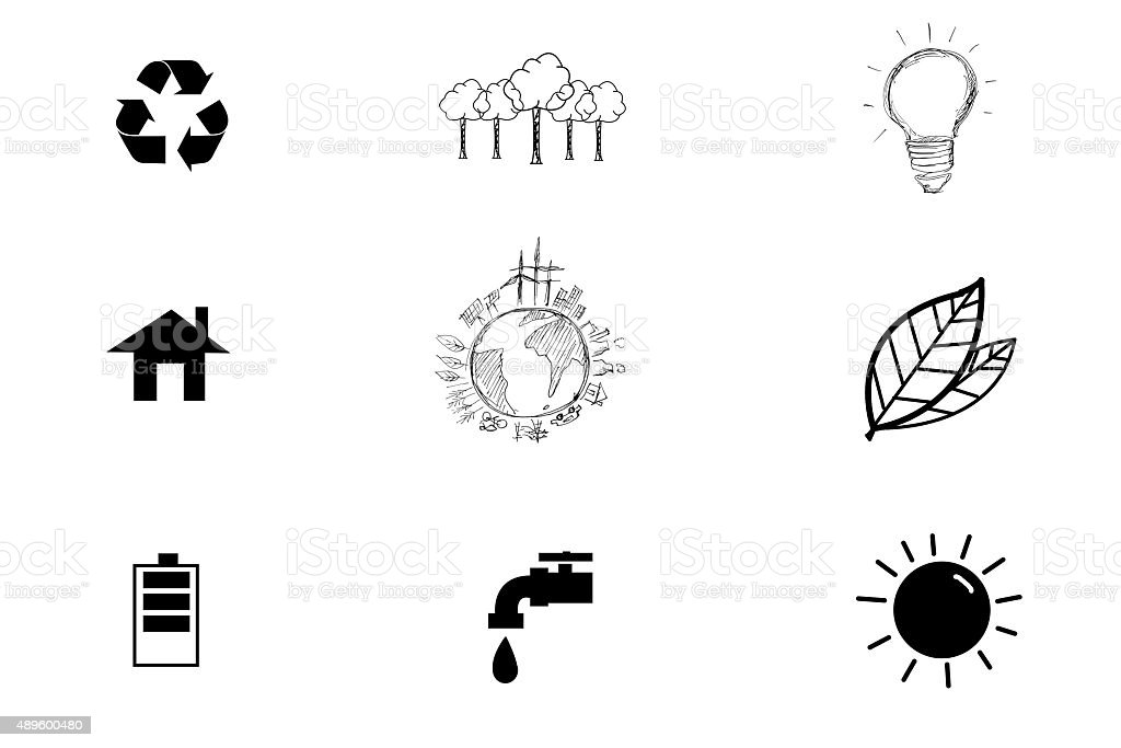 Save world icon with White Background stock photo