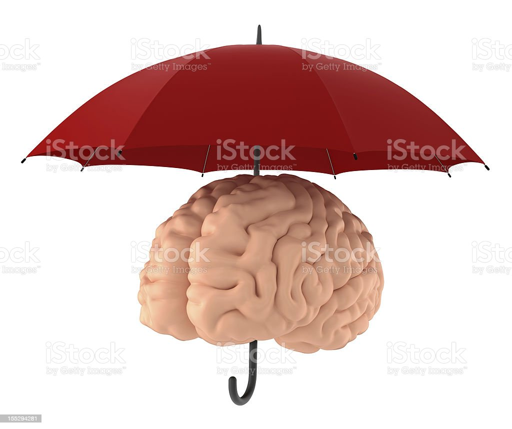 Save your brain. Clipping Path. royalty-free stock photo