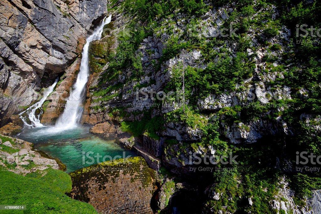 Savica waterfall stock photo