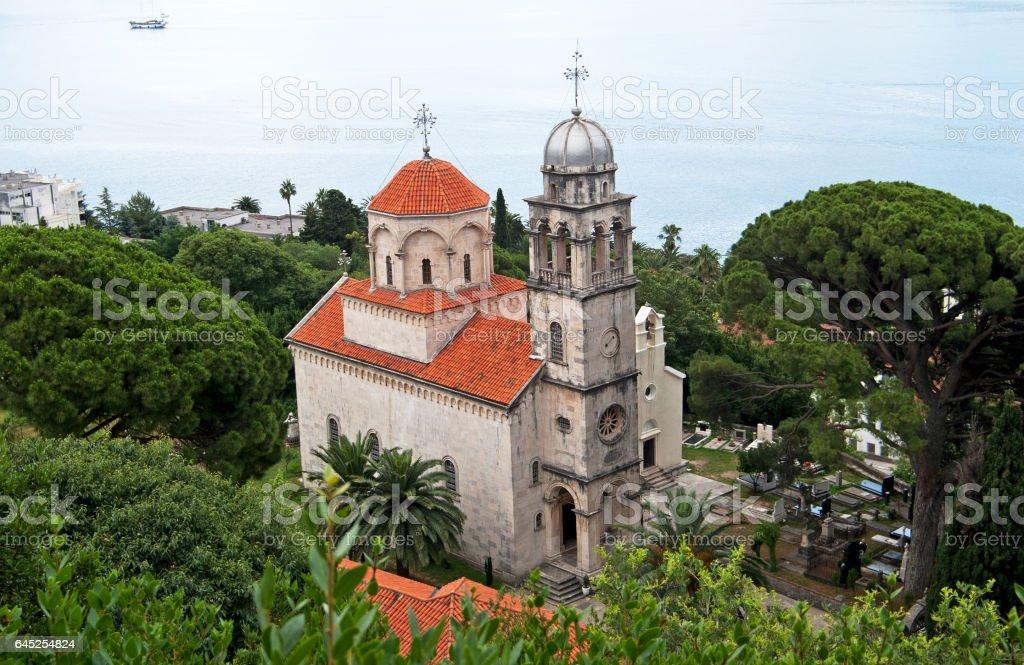 Savina Monastery is a Serb Orthodox monastery stock photo