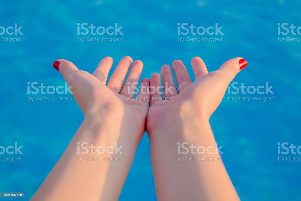 Saving and monitoring water and natural environment and ocean co stock photo