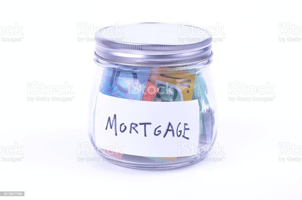 Saving Australian Dollars for the Mortgage stock photo