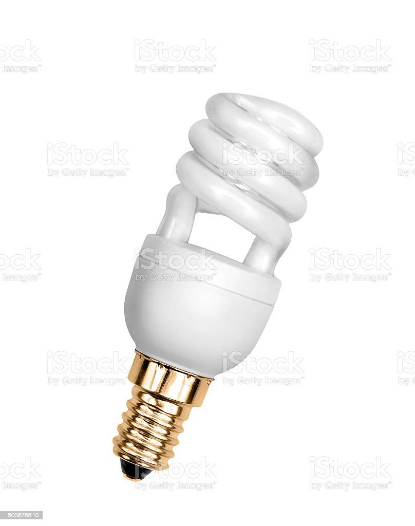 Saving bulb stock photo