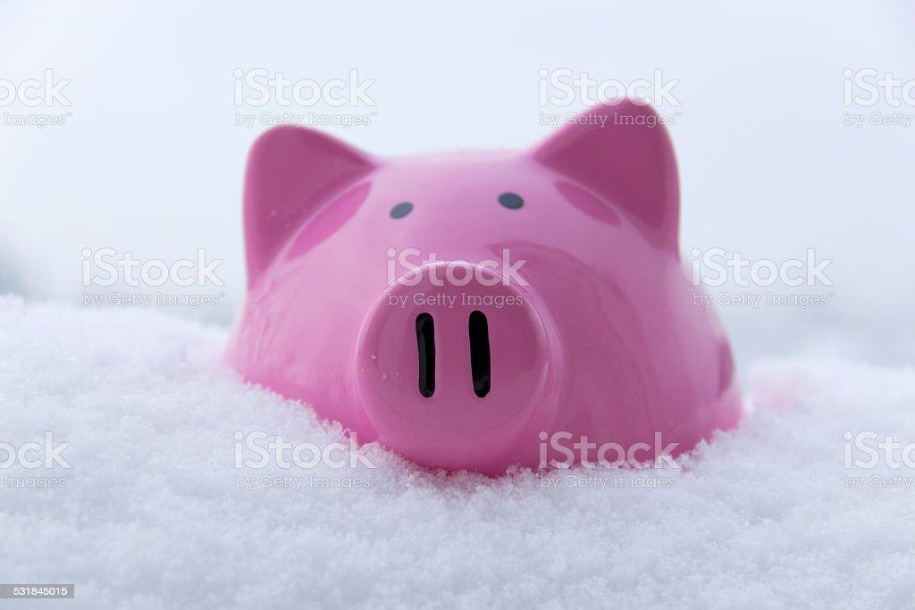 Saving Cold Cash stock photo