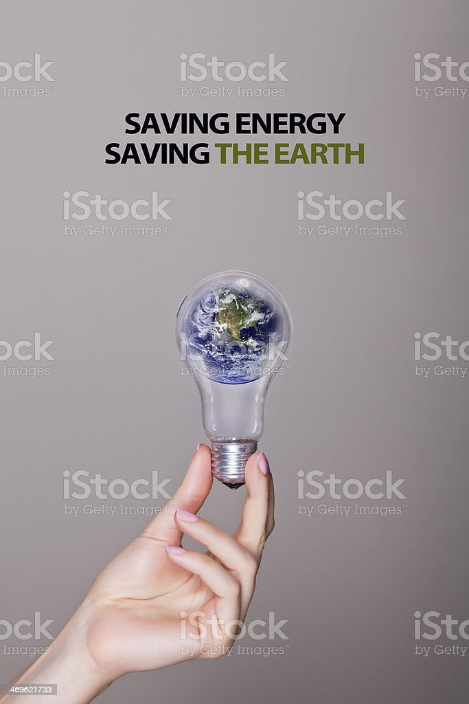 Saving Energy Saving the Earth stock photo