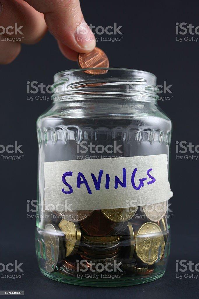 Saving every cent stock photo