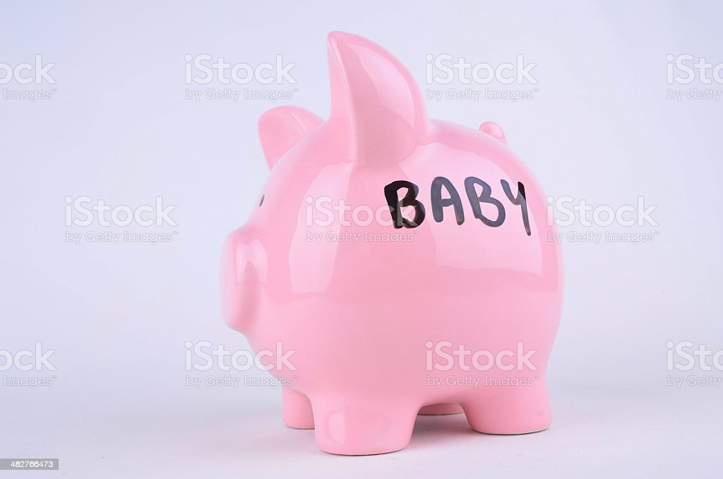 Saving for a Baby stock photo