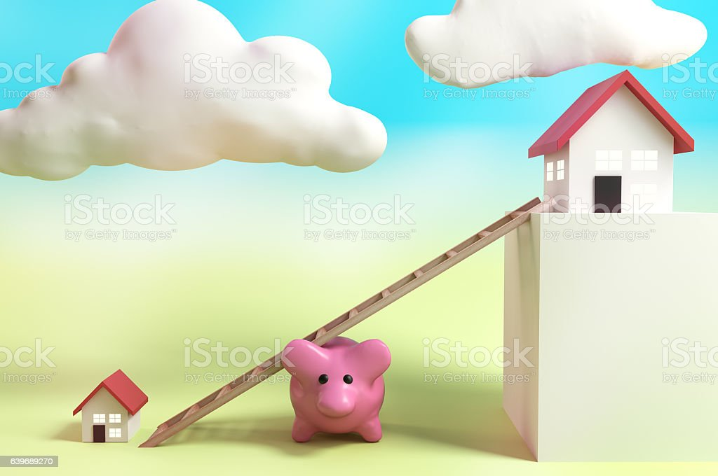 Saving for a bigger house! stock photo