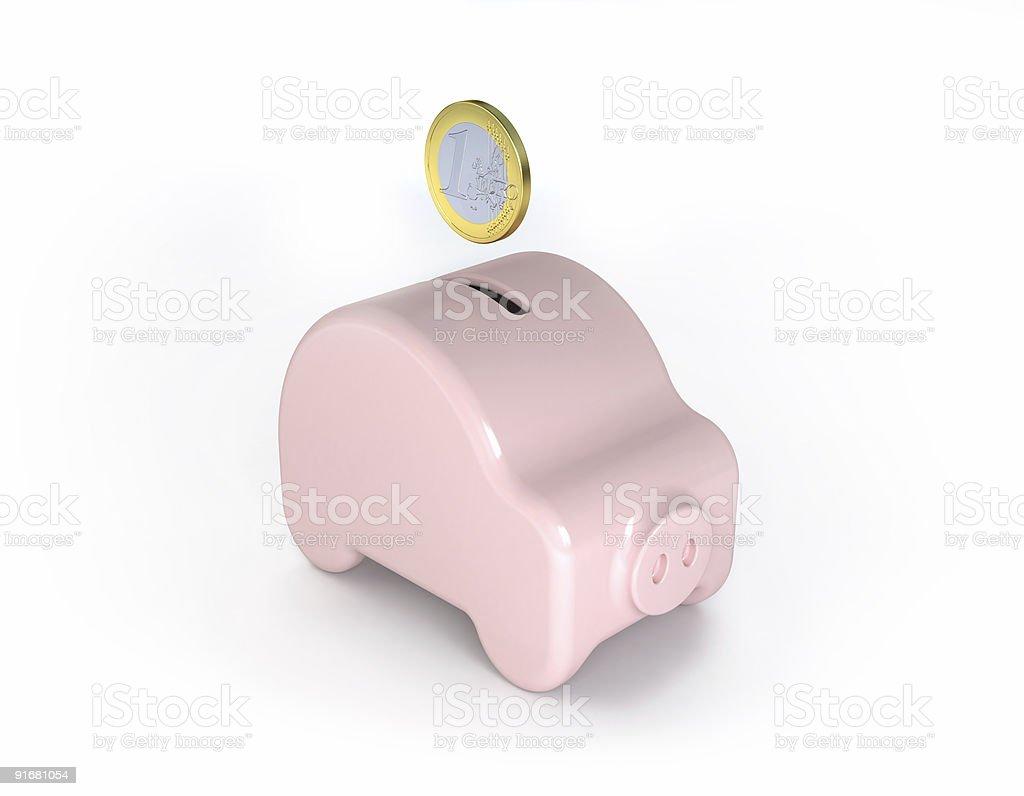 Saving for a car (piggy edition) stock photo