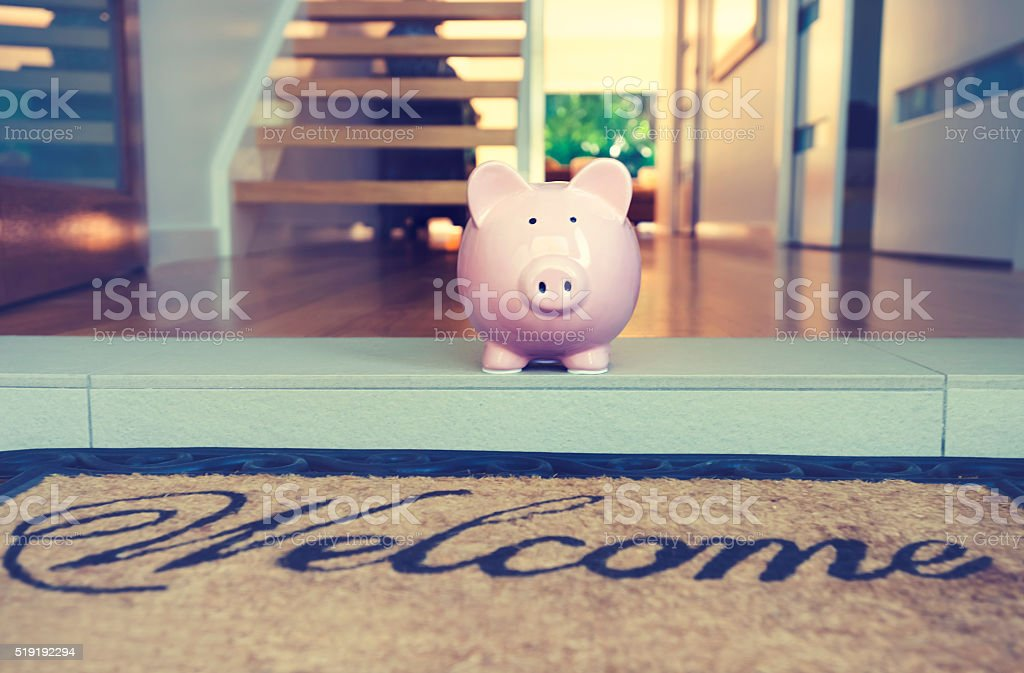 Saving for a home concept. stock photo