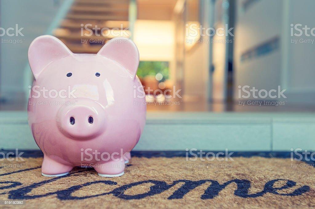 Saving for a home concept. stock photo