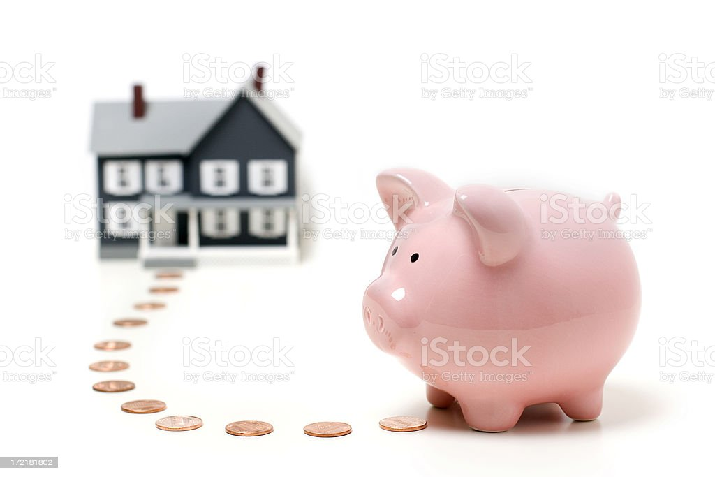 Saving for a house royalty-free stock photo