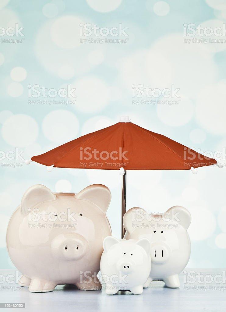 Saving for a Rainy Day royalty-free stock photo