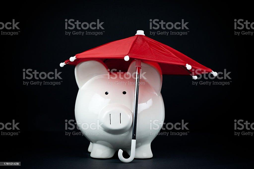 Saving for a Rainy Day stock photo