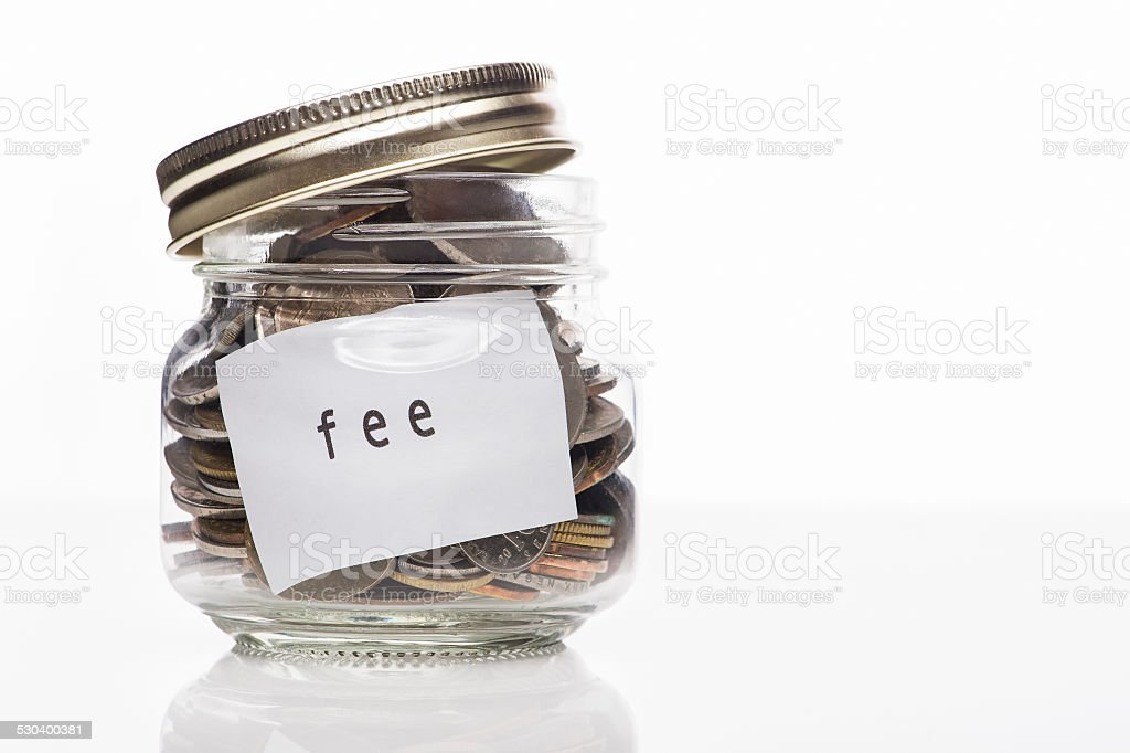 Saving for any fee concept stock photo