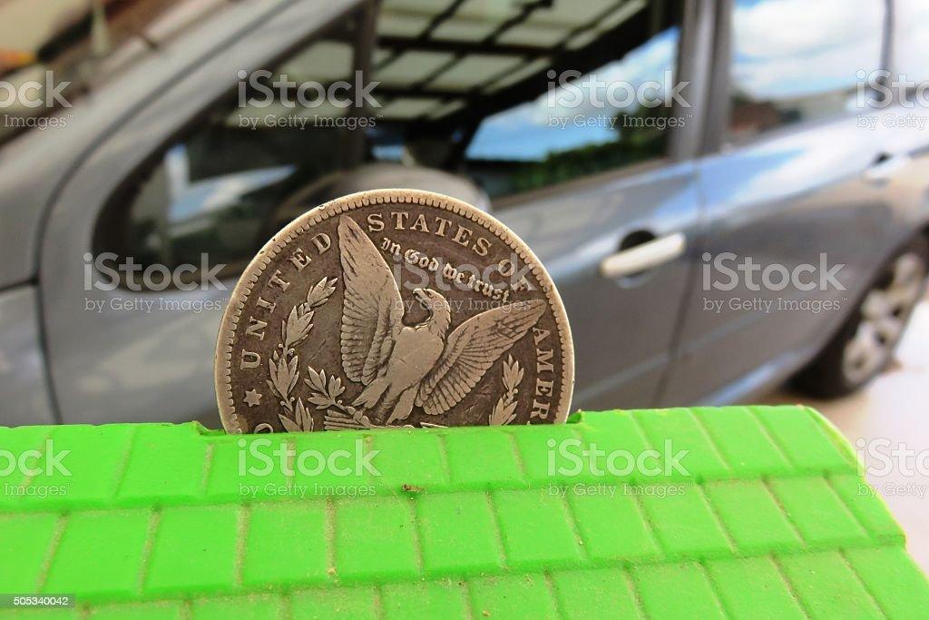 Saving For car Concept stock photo