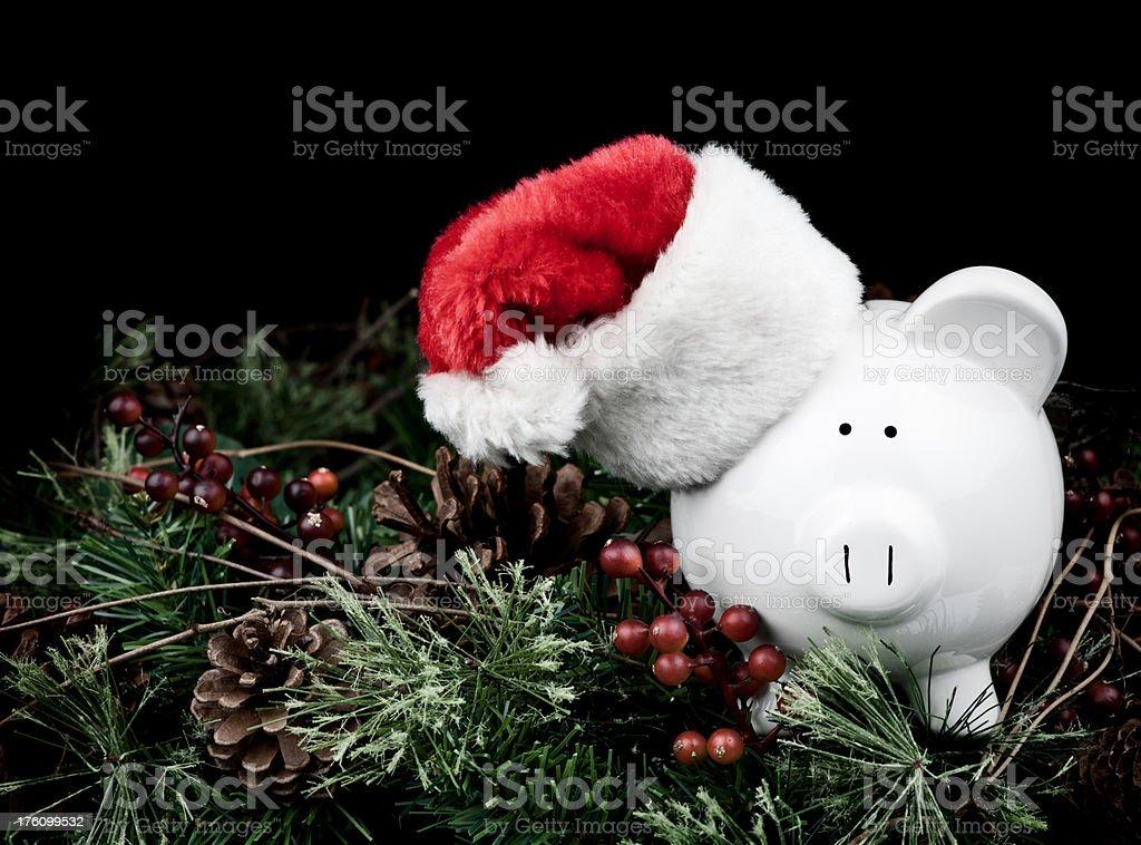 Saving for Christmas stock photo