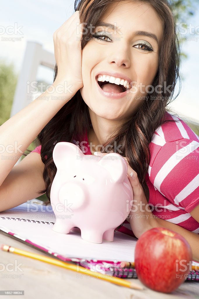 Saving for college royalty-free stock photo