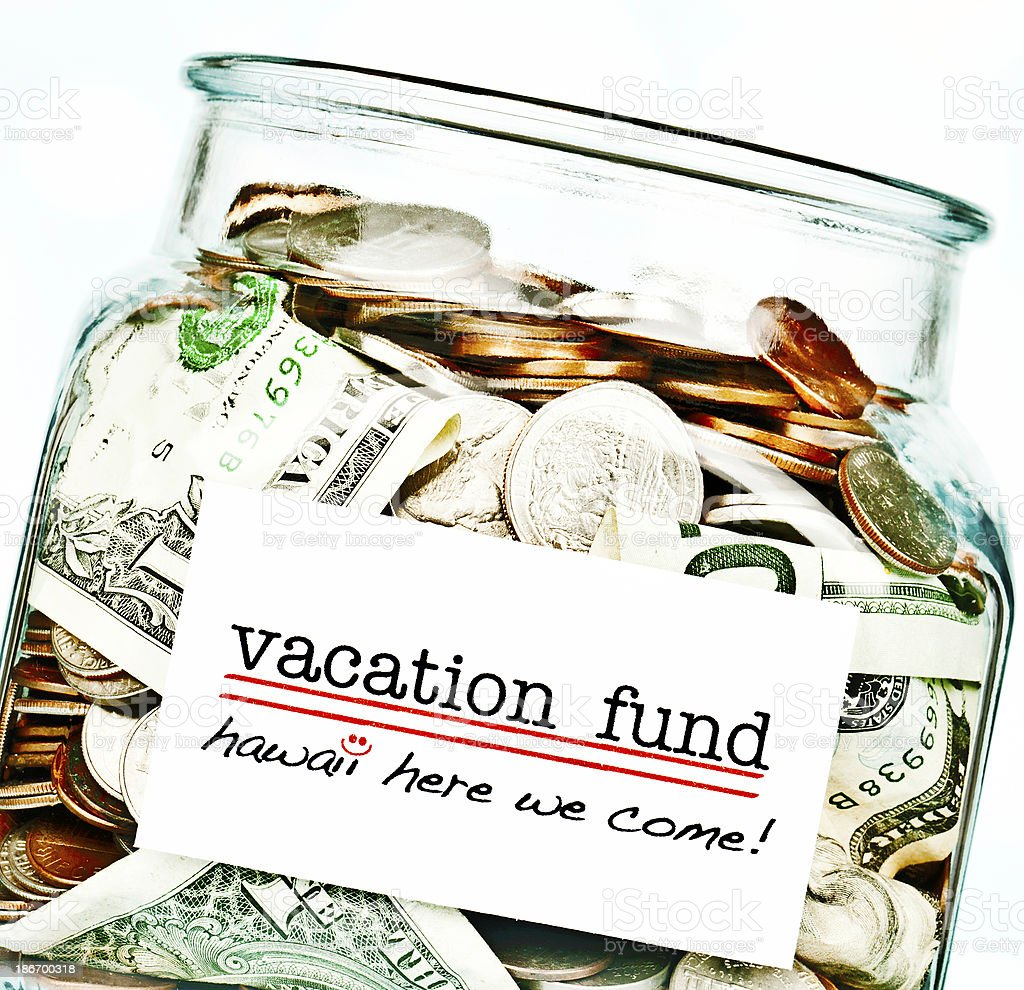 Saving for Dream Vacation royalty-free stock photo