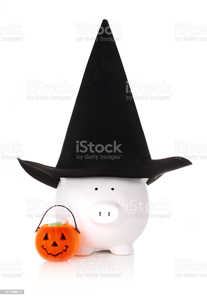 saving for halloween stock photo