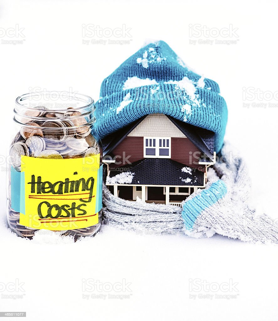 Saving for Heating Costs stock photo