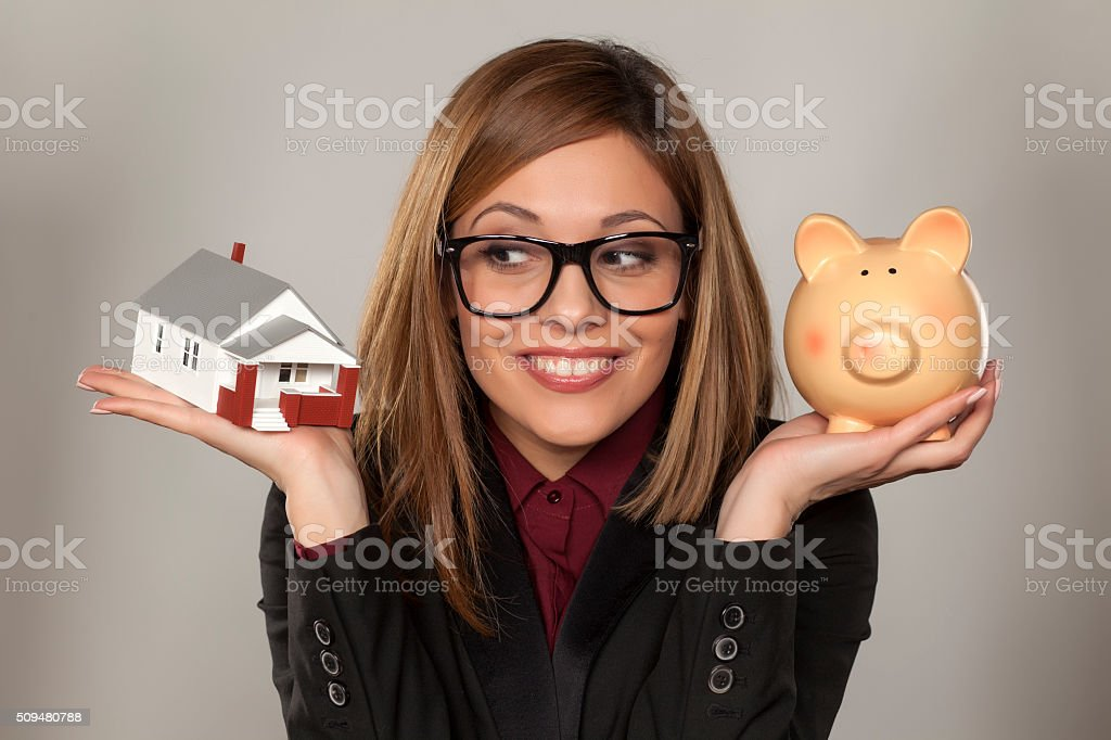 saving for house stock photo