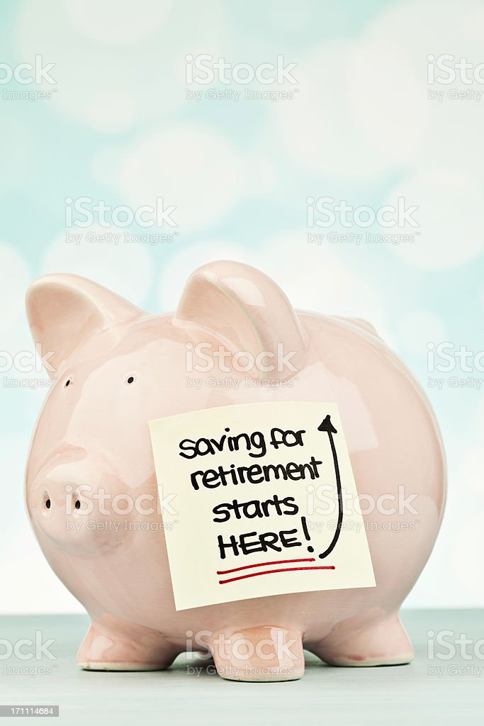 Saving For Retirement royalty-free stock photo