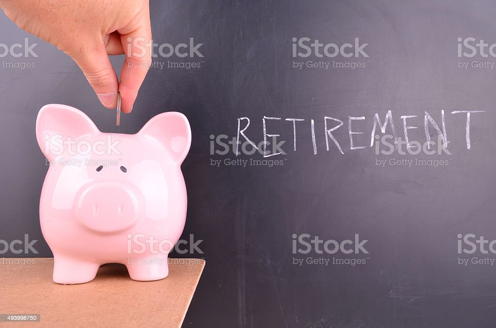 Saving for Retirement stock photo