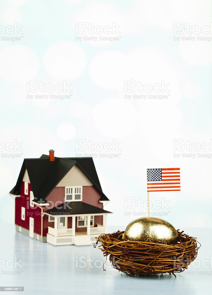 Saving for the American Dream stock photo