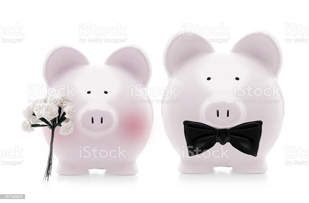 saving for the wedding royalty-free stock photo