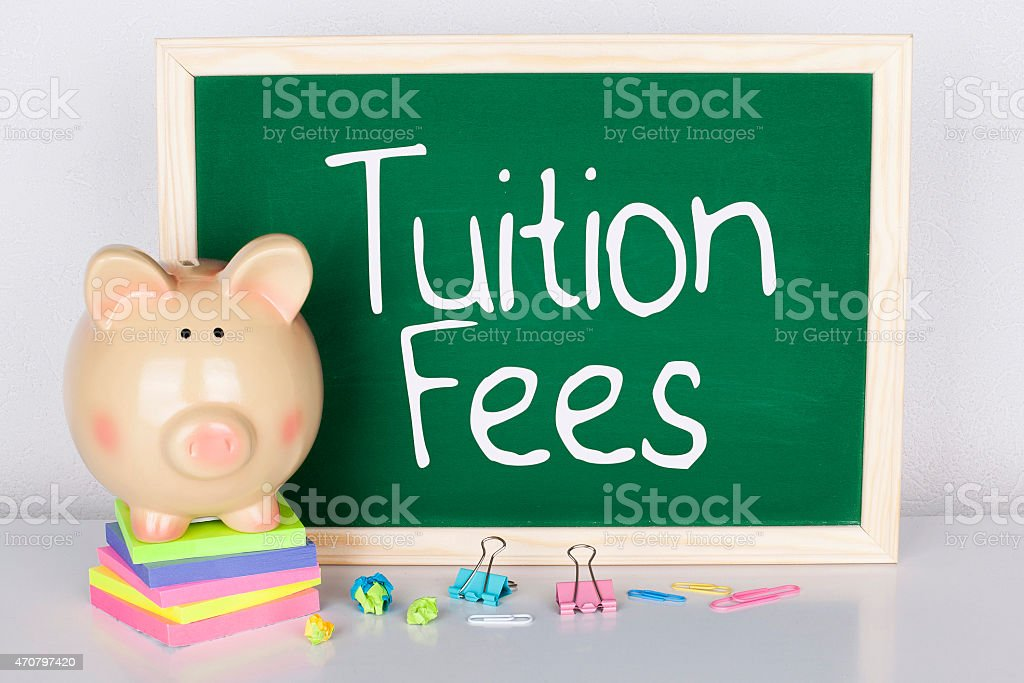 Saving for Tuition Fees stock photo