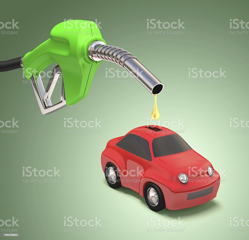Saving Gasoline stock photo