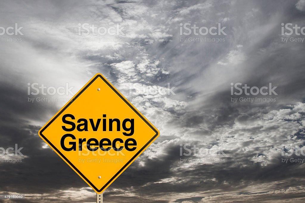 Saving Greece stock photo