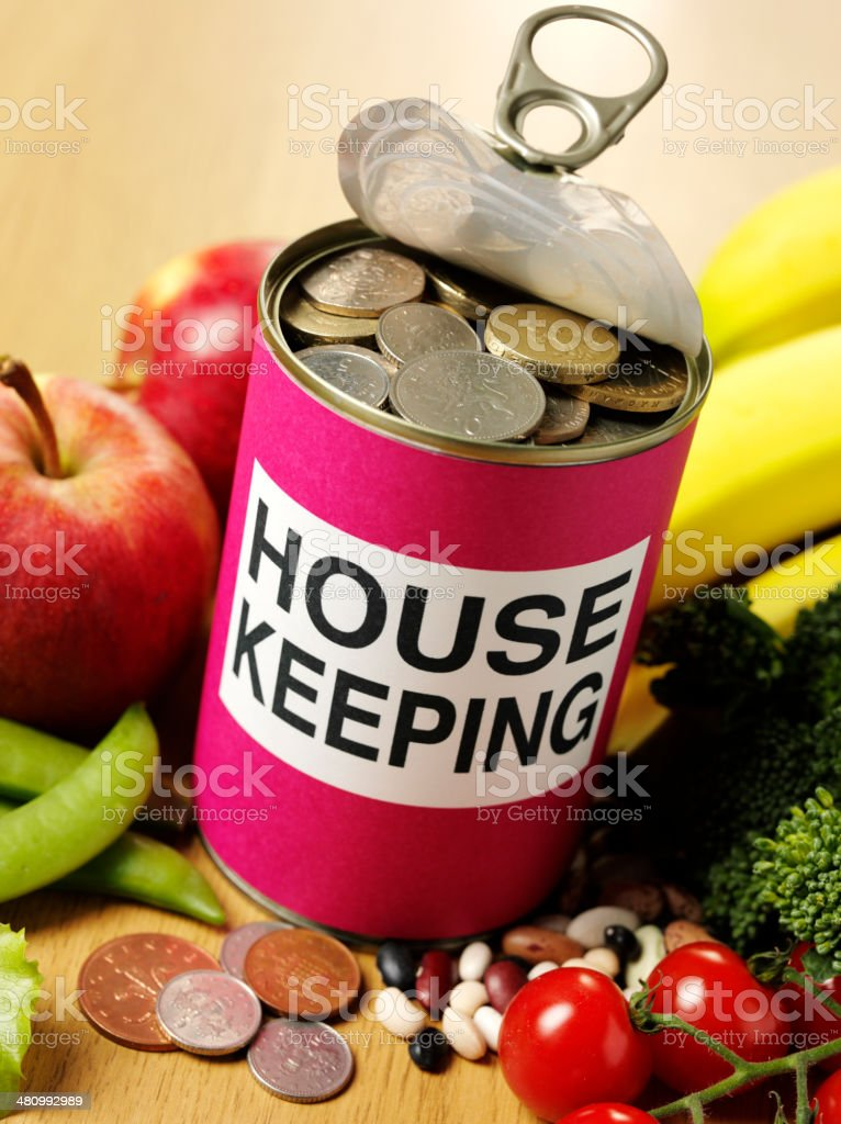Saving House Keeping Money with Fresh Fruit and Vegetables royalty-free stock photo