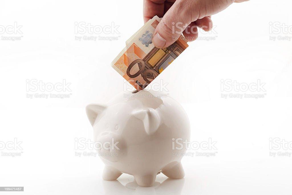 Saving in Money box royalty-free stock photo