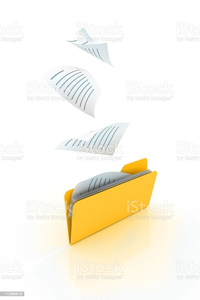 saving into folder royalty-free stock photo