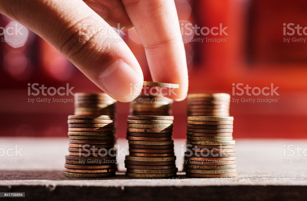Saving money and banking for finance concept stock photo