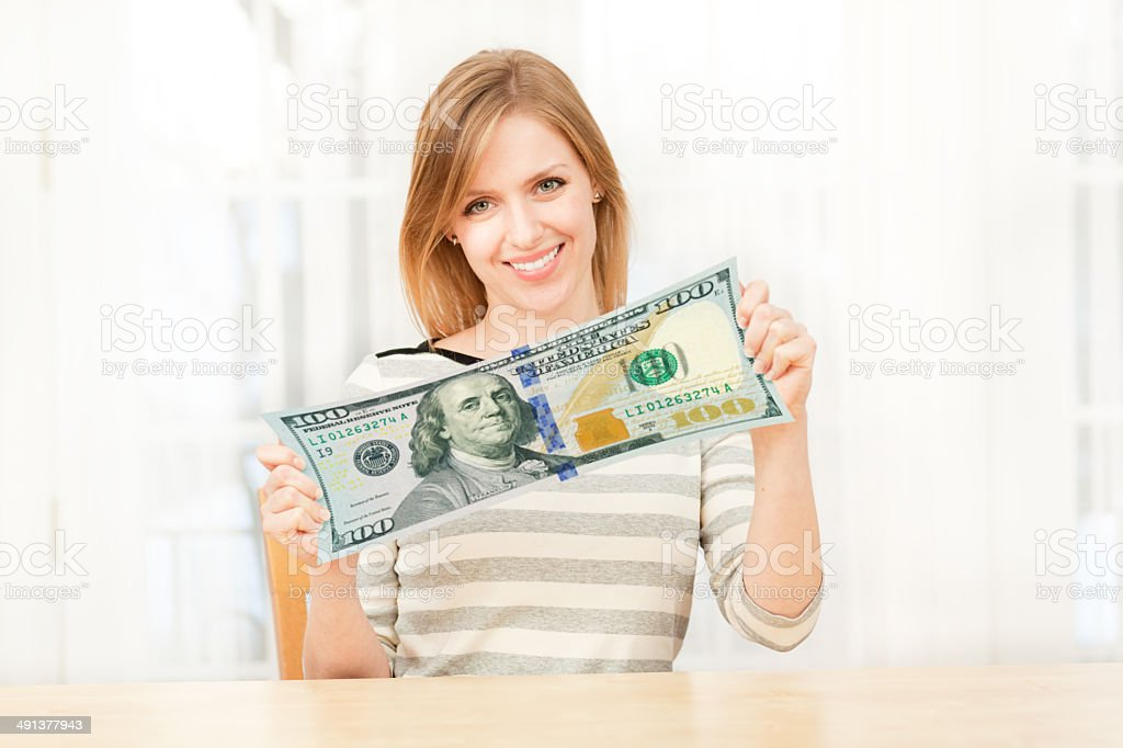 Saving Money by Stretching the Dollar to go Further stock photo