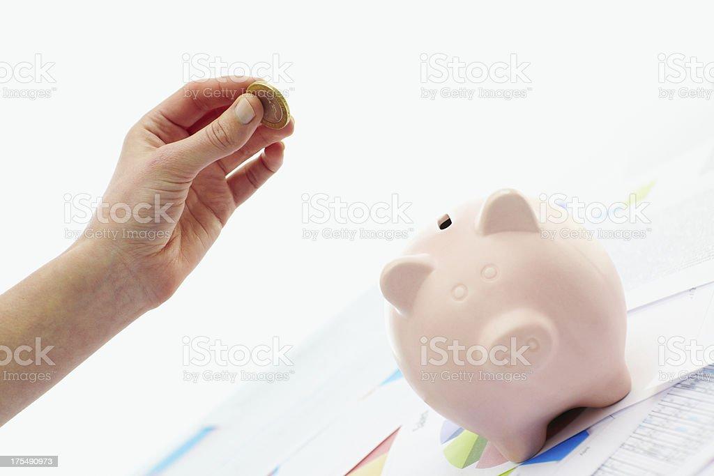 Saving money concept royalty-free stock photo