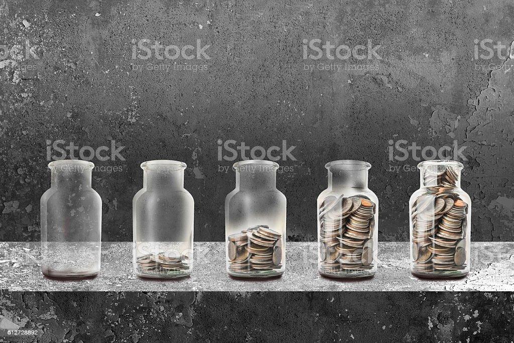 Saving money concept stock photo