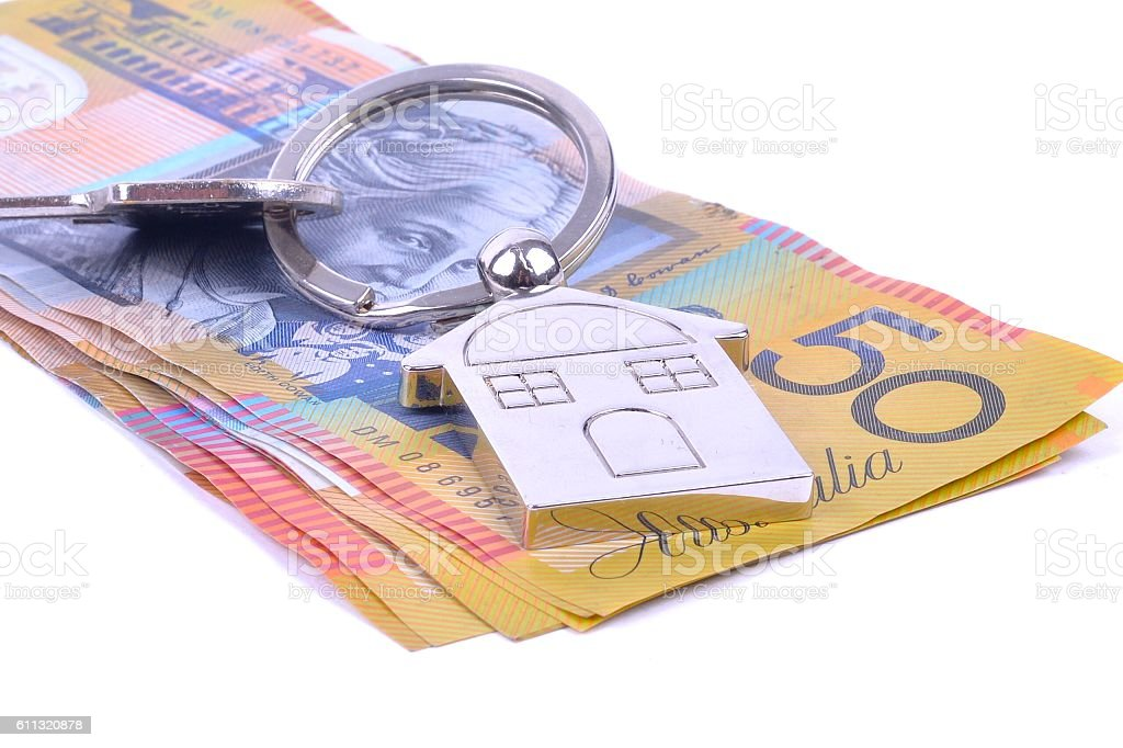 Saving money for a new house stock photo