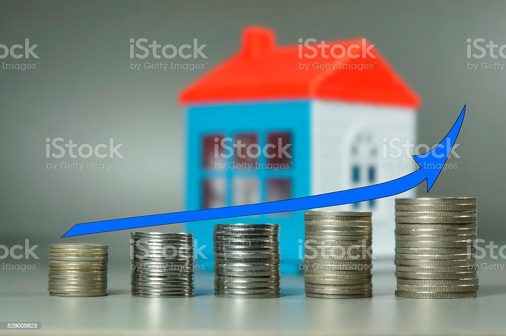 Saving Money for Home stock photo