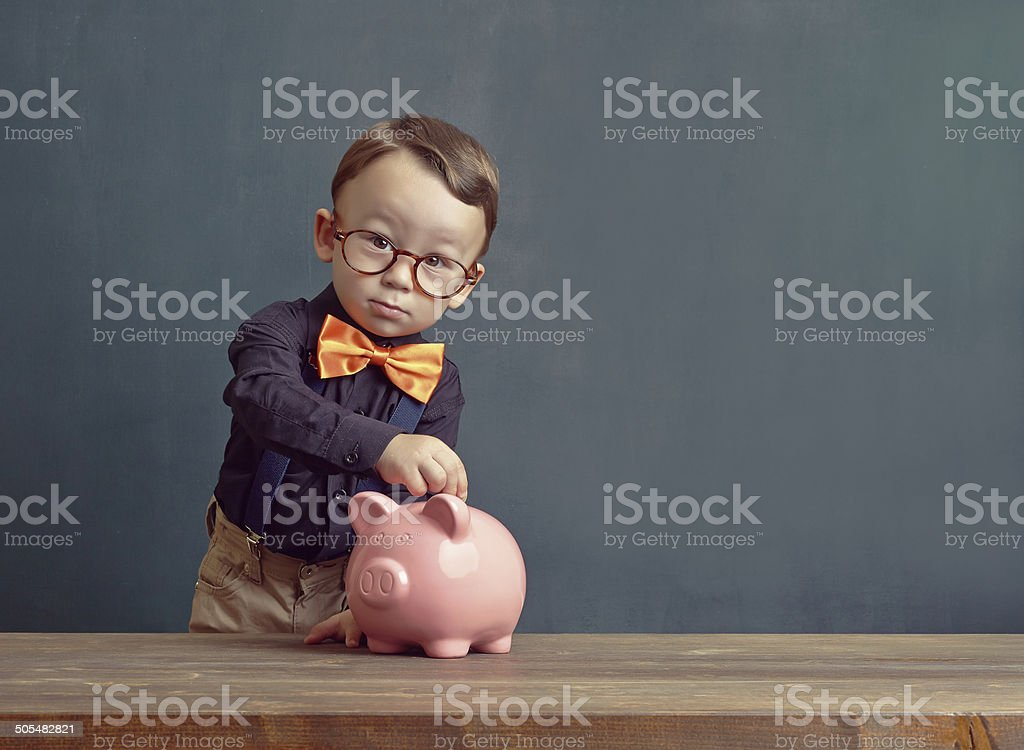 Saving money stock photo