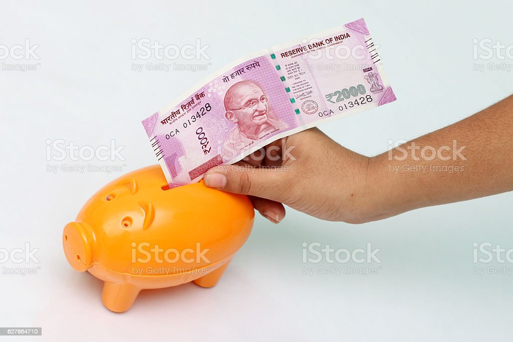 Saving money. stock photo