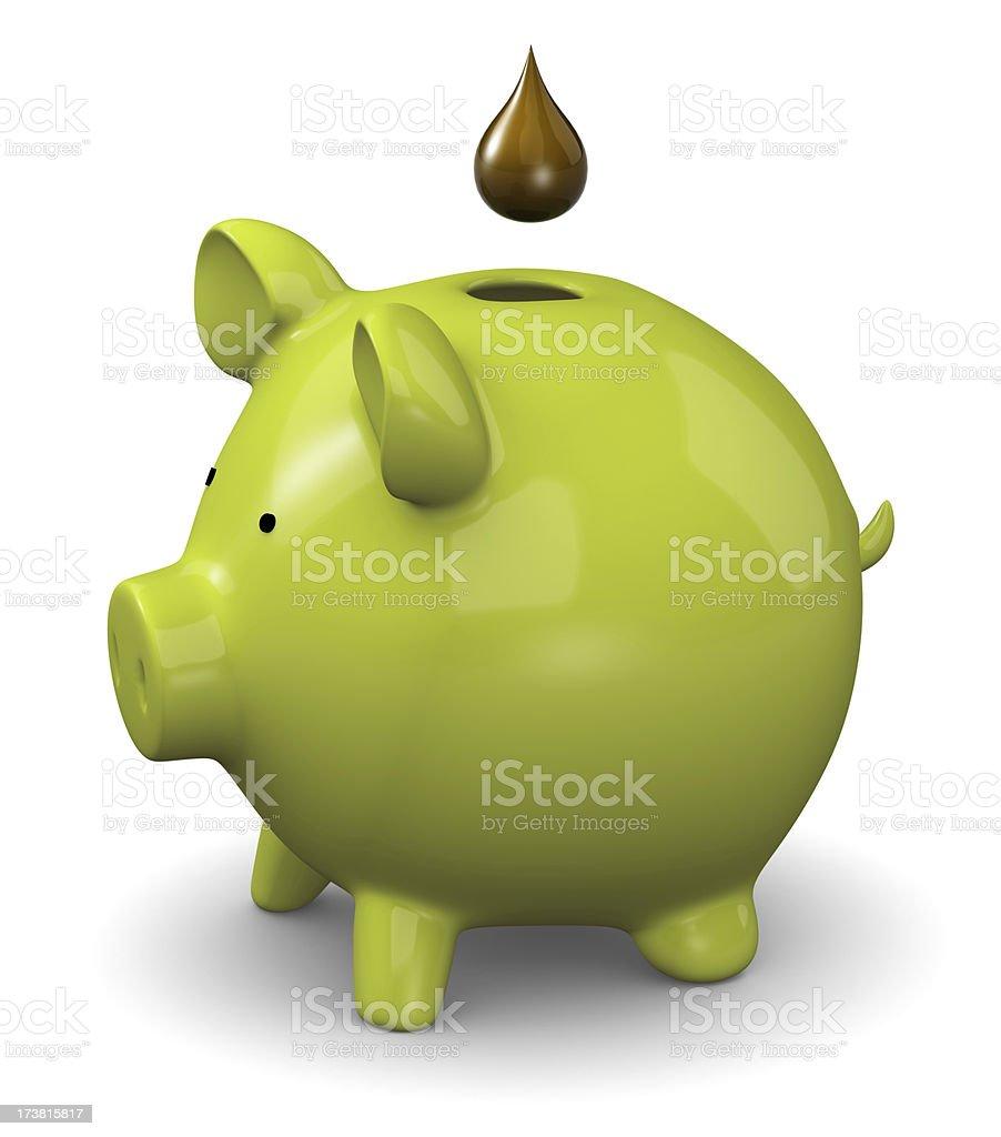 Saving oil royalty-free stock photo
