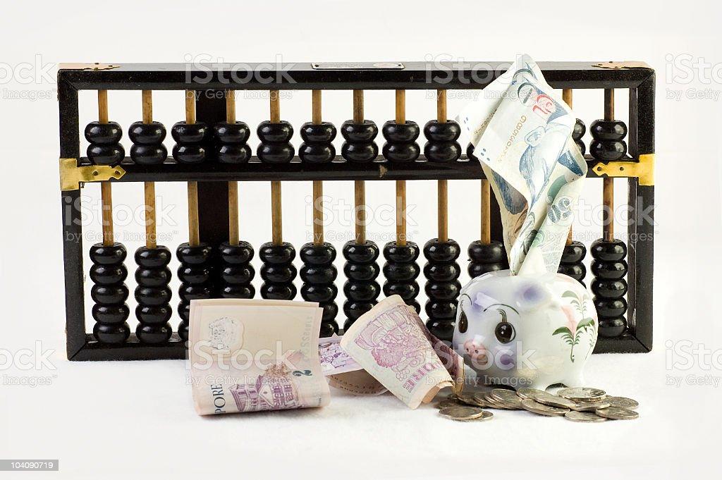 Saving royalty-free stock photo