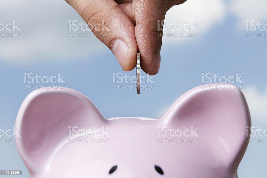 Saving stock photo