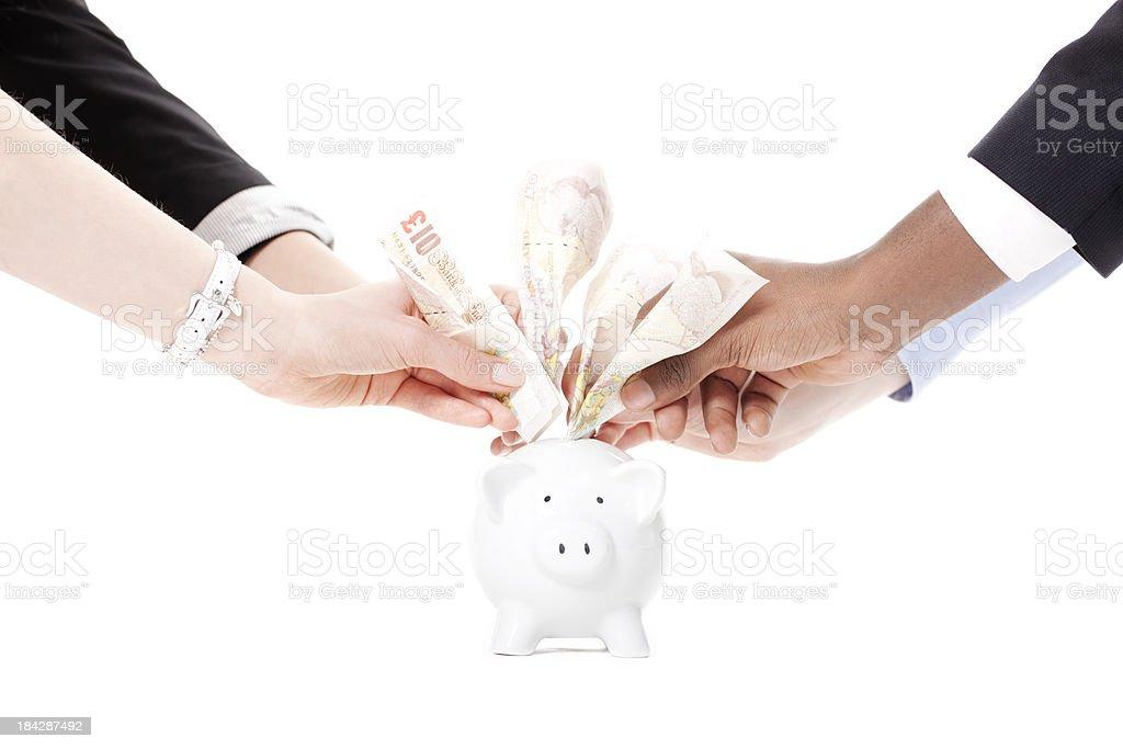Saving pounds royalty-free stock photo
